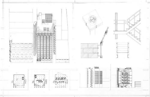 Plans, axonometrics, sections and elevations.