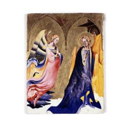 The Annunciation, study of a 1430 painting by Lorenzo Monaco,  a student of Sasetta.