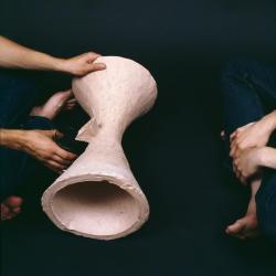 Clay rolling vessel.