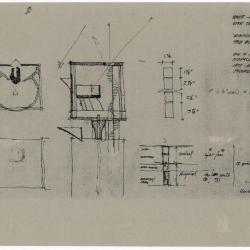 Plan and section sketches.