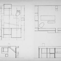 Axonometric, plan and elevations.