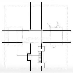 """Plan, House of Intersection, 1/8"""" scale."""