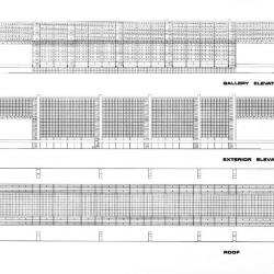 Elevations, Gallery and Exterior; Roof Plan.