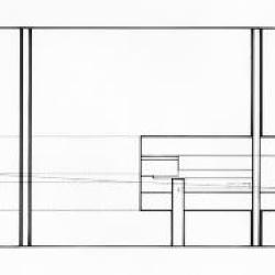 Section/ elevation through wall.