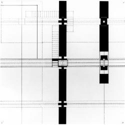 Plan, showing bridge and stair intersection.