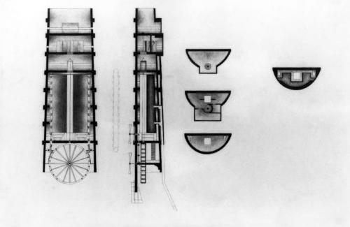 Sections and plans.