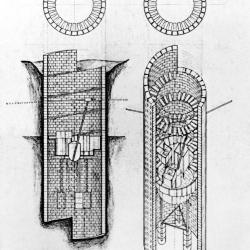 Axonometric, section and plan.