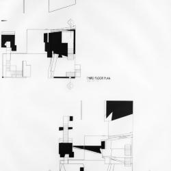 Third and fourth floor plans.