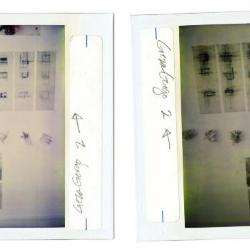 Installation polaroids.