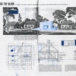 Site plan, plan, section, and description.