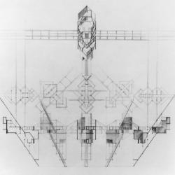 Basalt House, 120 degree drawing.