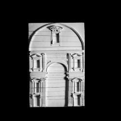 Model, facade detail.