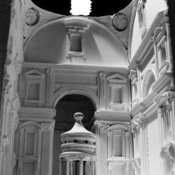 Model, interior detail.