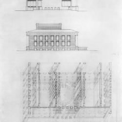Section, elevation and axonometric