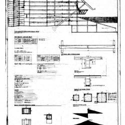 Section and garage and bridge details.