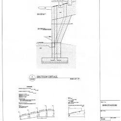 Section detail and calculation diagrams.