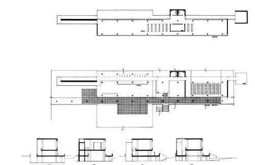 Plans and sections.