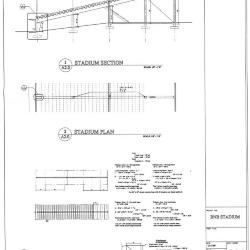 Section, plan and calculation diagrams.