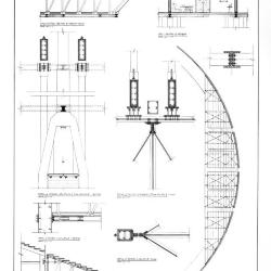 Details at truss / column connections.
