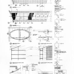 Plan, sections and details.