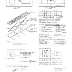 Site plan and elevation, steel plate sizing.
