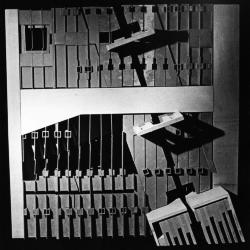 Model, plan showing linear projection of walls.