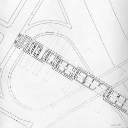 Plan at pedestrian walkway.