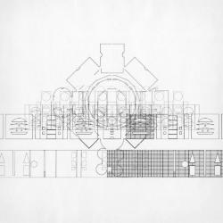 Plan / elevation, unfolding of concentric walls.