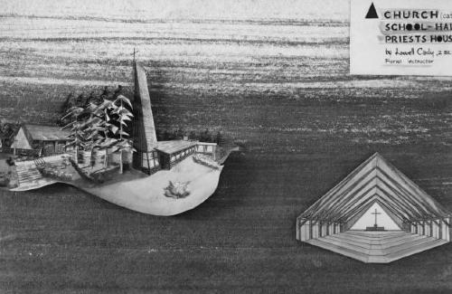 Axonometric and section.