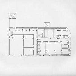Baker House, ground floor plan.