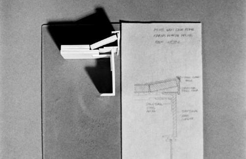 Roof detail model.