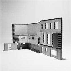 Baker House, model, elevation view.
