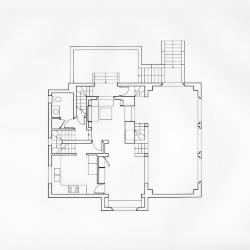 Robbe-Grillet House, first floor plan.