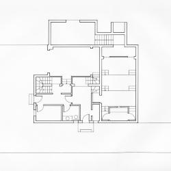 Robbe-Grillet House, ground floor plan.