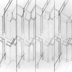 Corner Study for Cube House.