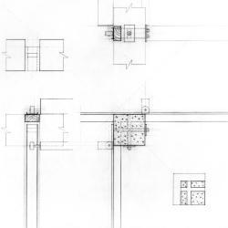 Wall - column detail.