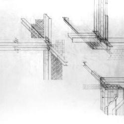 Masonry detail, study of building enclosure.