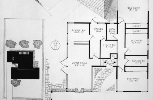 Plan, axonometric and detail.