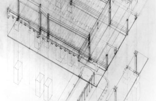 New York City Subway station  structure at George Washington Bridge overpass.