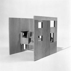 Robbe-Grillet House, model, elevation view.