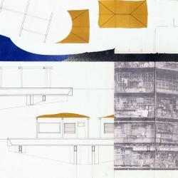 Plan / section of landscape / dwelling.