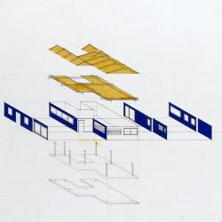 Housing proposal, wood frame dwelling.