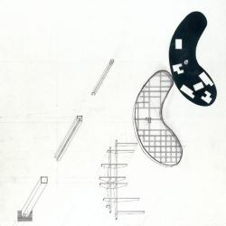 Axonometric of habitations, basin, and any infrastructure.