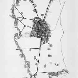 Plan, Aztec city, Tenochtitlan.