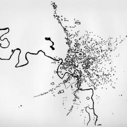 Original plan of Bucharest.
