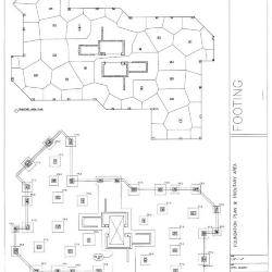 Foundation plan and tributary area
