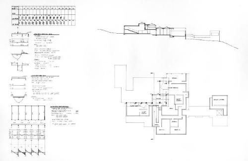 Plan, section and calculations.