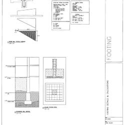 Footing details and calculations.