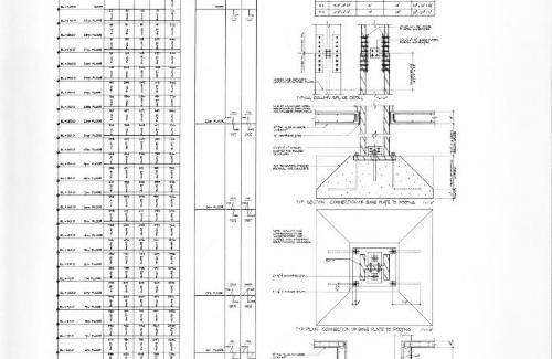 Column schedule, footing schedule, and details.