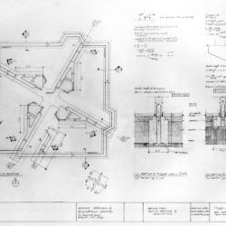 Footing plan, roofing sections and calculations.